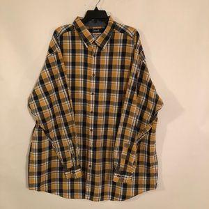 Roundtree & Yorke Casuals Men's Plaid Shirt Sz 3XT